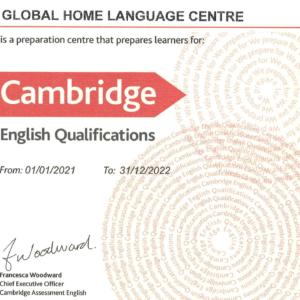 Certificado de Cambridge Assessment English