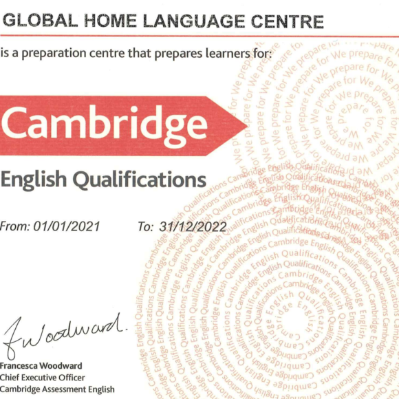 Certificado de Cambridge Assessment English